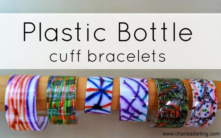 Plastic Bottle Cuff Bracelets CharisaDarling.com